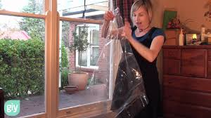 plastic sheet windows how to do simple double glazing with window insulating film youtube