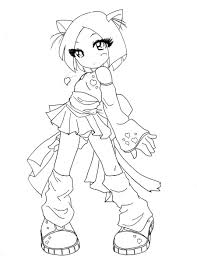 Anime Cat Girl Coloring Pages Cute Chibi Girls Page So Kitty