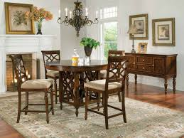 cherry counter height piece: standard furniture woodmont round counter height table set in cherry