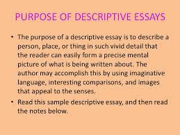 english descriptive writing 21