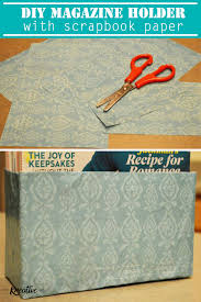 Homemade Magazine Holder Custom DIY Magazine Holder With Scrapbook Paper The Kreative Life