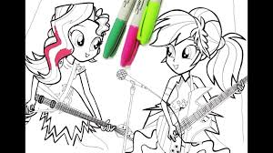 Small Picture My little pony Equestria girl coloring pages for kids MLP coloring