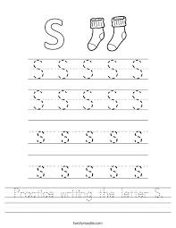 Lower Case Letter Practice Sheet Printable Letter Worksheets Letter S Practice Sheet Printable