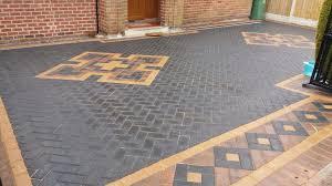 block paving driveway.  Block Patterned Block Paving Rotherham Paved Driveway For