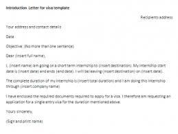 visa letter introduction letter for visa template letter of introduction