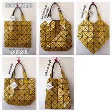 Japanese Designer Bag Geometric Issey Miyake Bao Bao Foldable Bag Bags Purses Backpack Bags