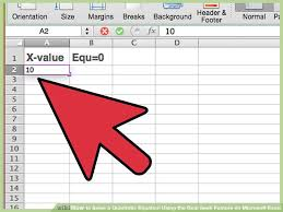 image titled solve a quadratic equation using the goal seek feature on microsoft excel step 6