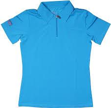 Blue Polo Shirt Design Sephlin Lady Talia Womens Blue Zipper Polo Shirt At