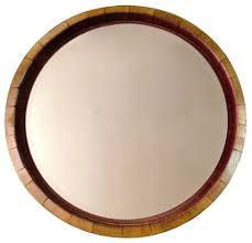 inverted wine barrel mirror rustic bathroom mirrors arched napa valley wine barrel