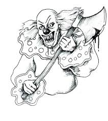 Pennywise The Clown Coloring Pages To Free Jokingartcom Pennywise