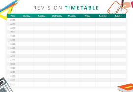 Revision Schedule Template Revision Timetable Powerpoint Template Pslides
