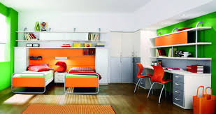 contemporary kids bedroom furniture green. Fantastic Furniture For Bedroom Decoration With Modern Twin Bed Frames : Interactive Orange Green Kid Contemporary Kids U