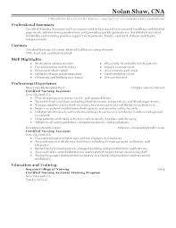 Cna Sample Resume Sample Resume Resume Samples Certified Nursing