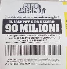 Venerdi 10 maggio EUROJACKPOT 90.000.000€ - Tabaccheria ...
