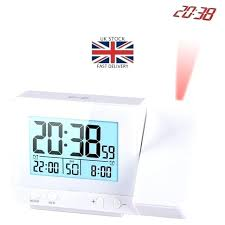 atomic ceiling projection alarm clock la technology atomic projection clock with outdoor temperature ceiling wall dual