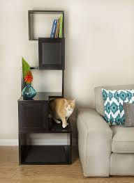 designer pet products the sebastian modern cat tree in black