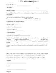 Simple Loan Agreement Template Interest Basic Contract