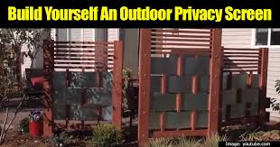 DIY Project: Build An Outdoor Privacy Screen