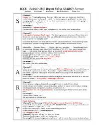 004 Template Ideas Nursing Shift Unforgettable Report Forms