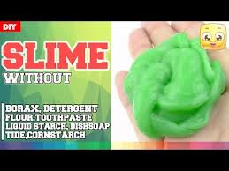 diy slime with eye drops without borax or liquid starch laundry detergent toothpaste shampoo