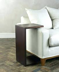table for couch end sofa table slide in side table over couch arm rests mission sofa table for couch