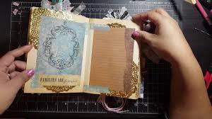 junk journal from an old book