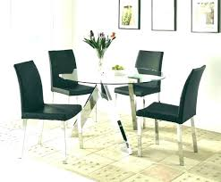 glass table and 4 chairs round table with 4 chairs round glass dining table for 4