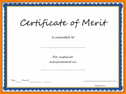 Merit Certificate Sample 24 certificate of merit template weekly template 1