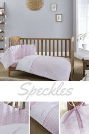 pink cot bedding baby girl nursery sets quilt quilts speckles per set crib sheets boy elephant