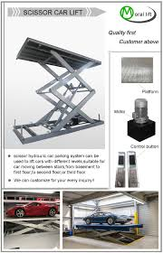 Car Parking Lift Design Scissor Hydraulic Car Parking System Can Be Used To Lift