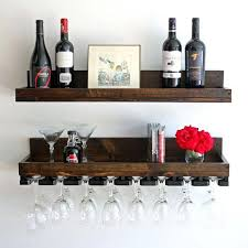 wine glass shelf wine rack wall