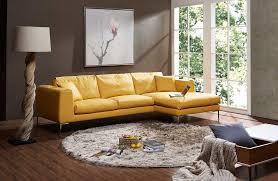 yellow premium leather sectional sofa