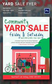 011 Best Yard Sale Flyer Templates Psd Designs Free Auction