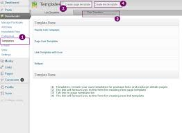 4 to a page template integrated templates wordpress download manager