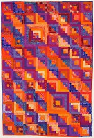 Orange explains it all: log cabin quilt in orange and purple & 39