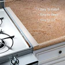 how to fill space between stove and counter kitchen silicone stove counter gap cover easy clean