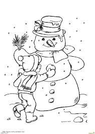 Kleurplaten Sneeuwpoppen