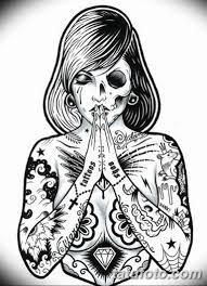 черно белый эскиз тату в стиле олд скул 11032019 012 Tattoo