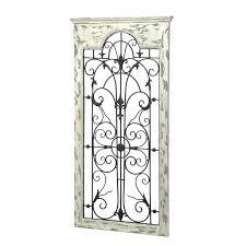 wall gate decor gate white wood and metal wall iron window gate wall art