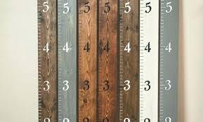 Growth Chart Ruler Home Depot Wooden Ruler Growth Chart