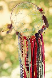 How Dream Catchers Are Made DIY dreamcatcher Made with ribbons buttons and feathers DIY 64