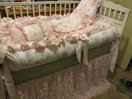 image of shabby chic crib bedding sets