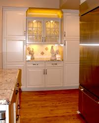 glass door kitchen cabinet lighting for small kitchen decoration with white marble countertops
