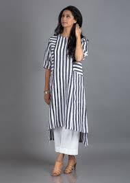 Designer Indian Tunics Woven Striped Pure Linen Tunic Long Kurti Designs Tunic