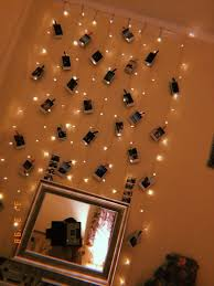 Cute Rooms With Lights Fairy Lights Polaroid Display Tumblr Bedroom Aesthetic