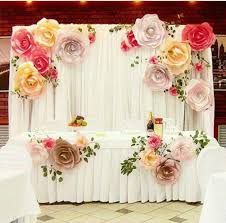 Paper Flower Wedding Backdrops Us 10 9 More Color Size Diy Paper Flower Backdrop For Wedding Custom Paper Flower Wall Decoration Party Supplies Birthday Party Kids In Artificial