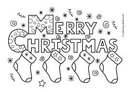 Merry Christmas Colouring Pages Printable Festival Collections