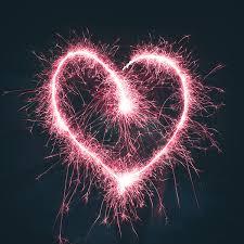 sparkle love heart hand whatsapp dp