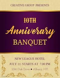 Purple Golden Anniversary Banquet Flyer Template Postermywall