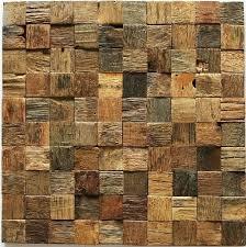 wood wall tile natural mosaic rustic tiles kitchen panel pattern reclaimed uk